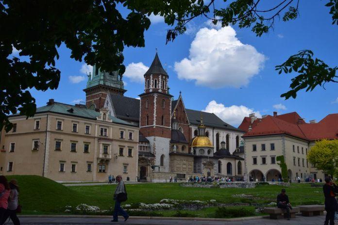 esplanade château de Wawel Cracovie