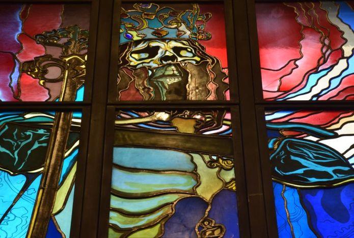 détail vitrail pavillon wyspianski 2000 cracovie