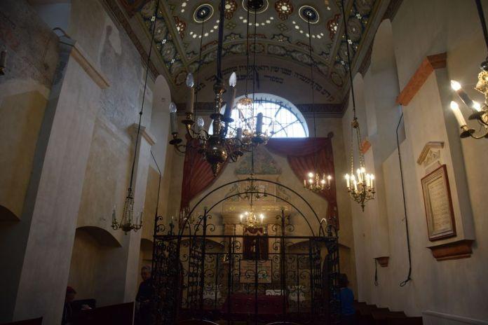 l'une des synagogues du quartier juif de Cracovie