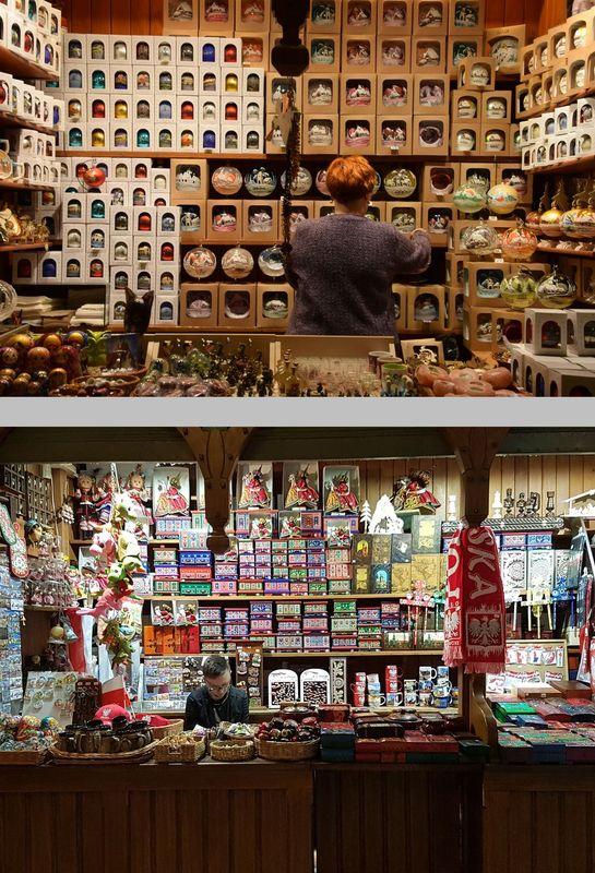 boutiques de la Halle aux draps cracovie