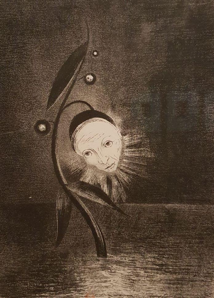 Odilon Redon, Fleur de marécage (BNF).