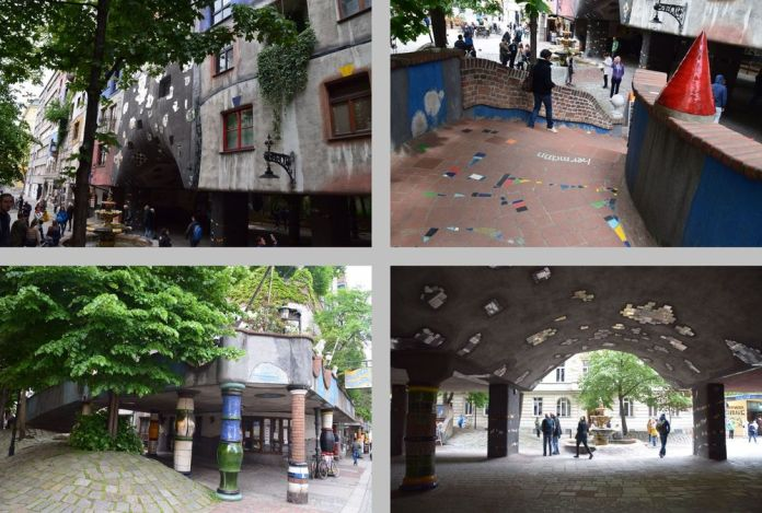 sol en mouvement voûtes céramique Hundertwasser haus vienne