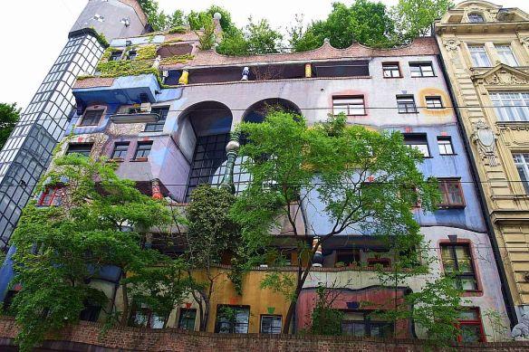 Hundertwasser Haus façade arrière vienne