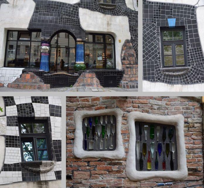 détails fenêtres décors Kunst Haus vienne
