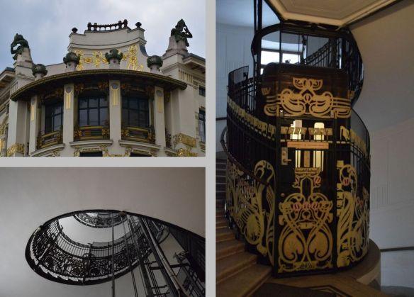 fronton angle ascenseur maison aux médaillons vienne