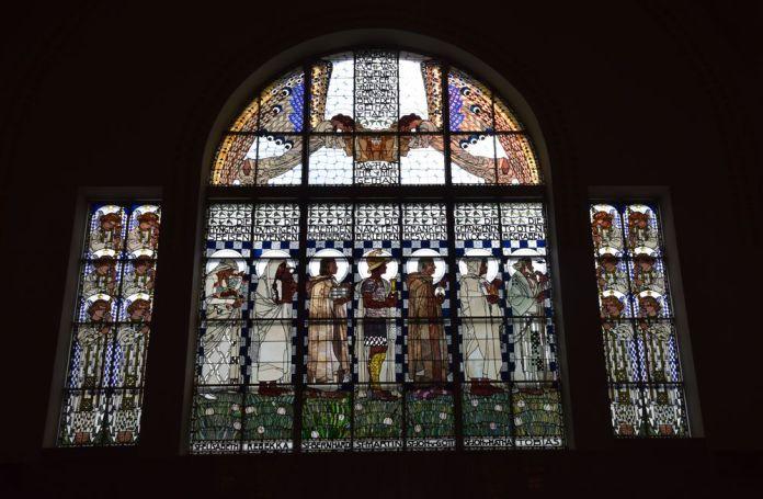 vitraux koloman Moser église steinhof vienne