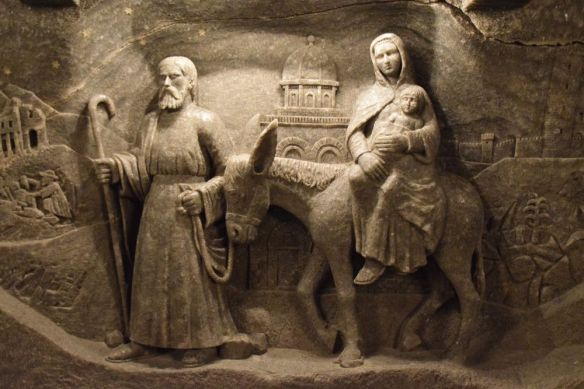 bas relief chapelle sainte kinga Wieliczka