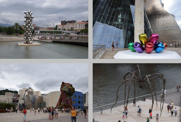 autour du guggenheim oeuvres du musée à Bilbao