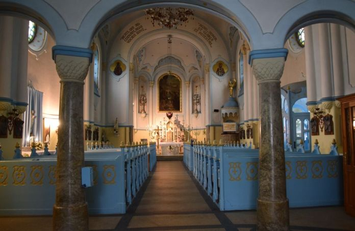 intérieur église bleue bratislava