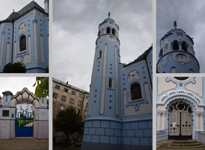 architecture travaillée église bleue bratislava