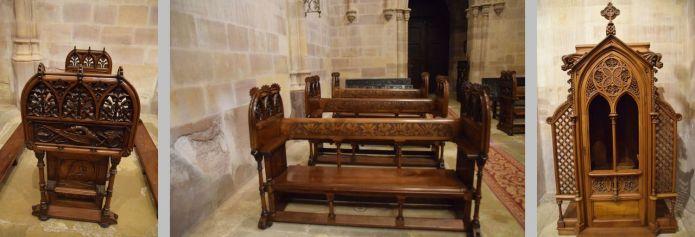 mobilier église panthéon réalisé par Gaudi