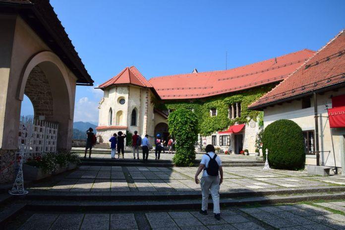 cour intérieur du château de Bled