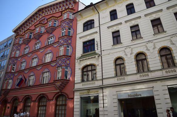 bâtiments Art nouveau Sécession Ljubjlanan