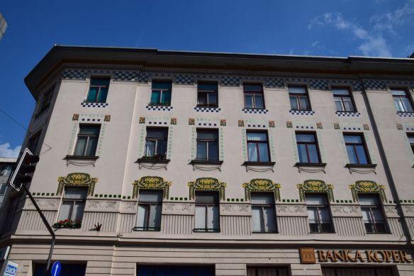 autre exemple art nouveau Ljubljana