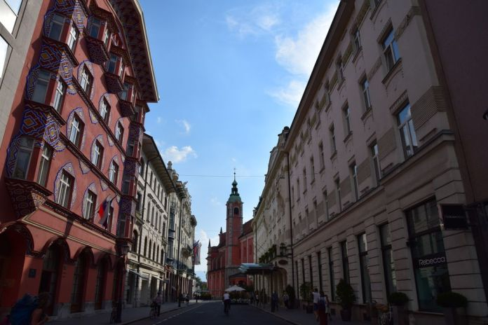 enfilade Miklosiceva cesta Ljubljana