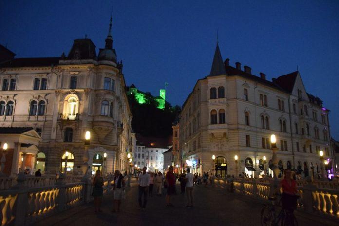même la nuit le charme de Ljubljana opère