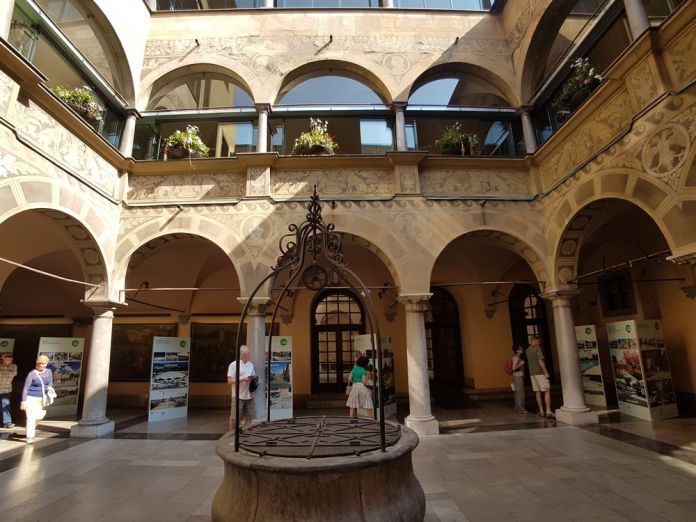 cour intérieure de la mairie de Ljubjljana