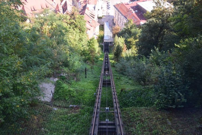 descente vertigineuse château ville ljubljana