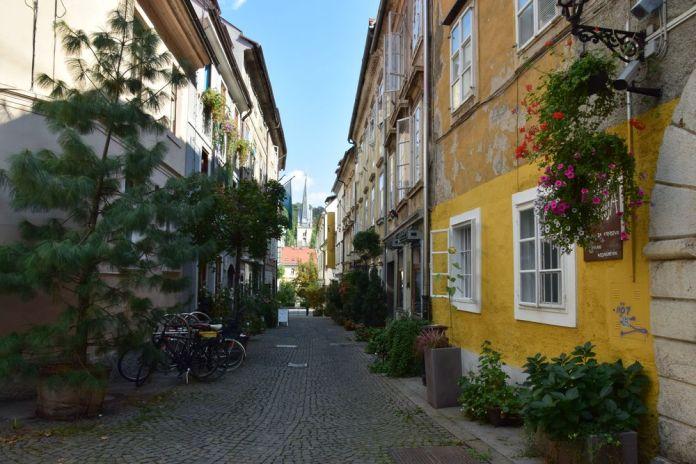 comment imaginer qu'on est au centre de Ljubljana