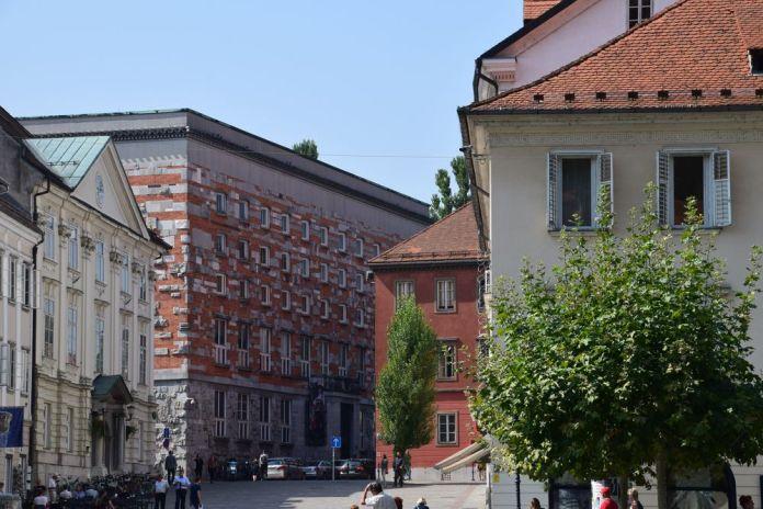 silhouette bibliothèque Ljubljana