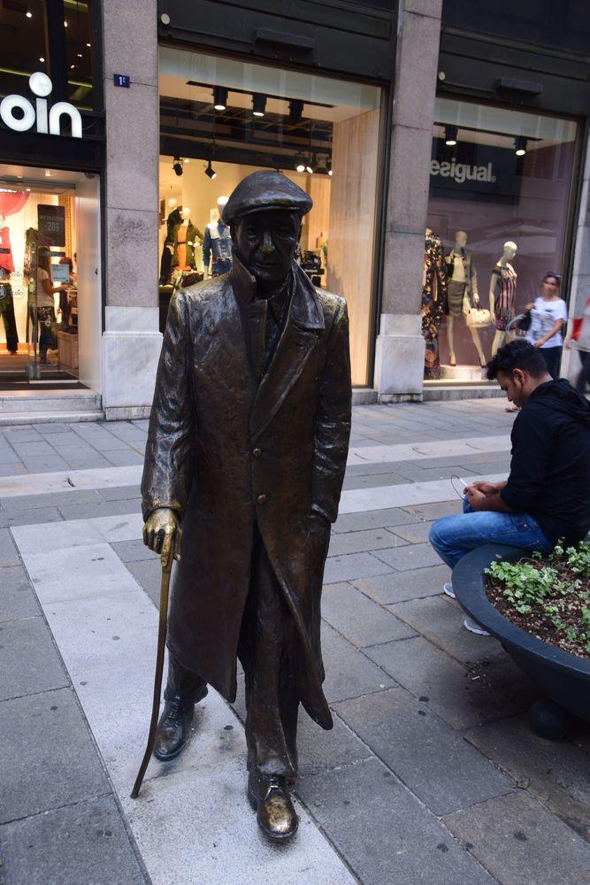 sculpture d'Umberto Saba trieste