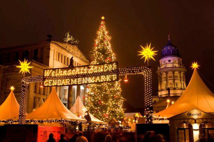 entrée marché de Noël Gendarmenmarkt Berlin