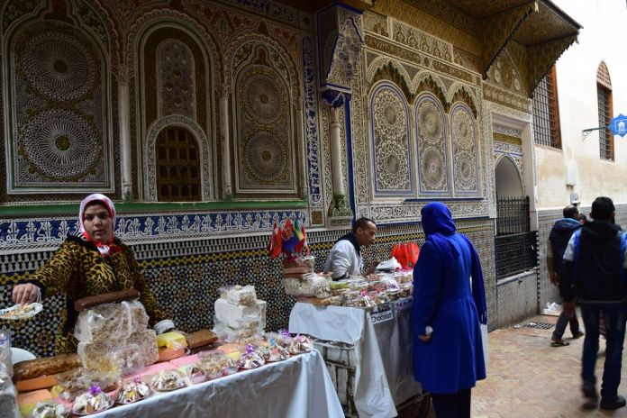 gourmandises à Fès près mausolée Moulay Idriss