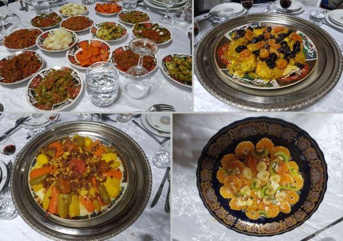 menu palais Mnebhi Fès