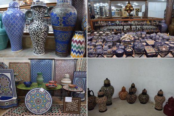 choix de poteries, potiers Fès
