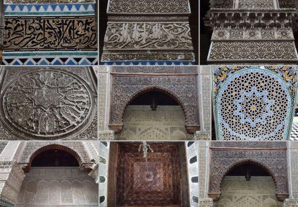 détails des décors université El Qaraouiyin Médina Fès