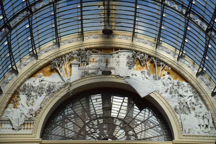 détail arc de verrière Galeria Umberto 1er Naples