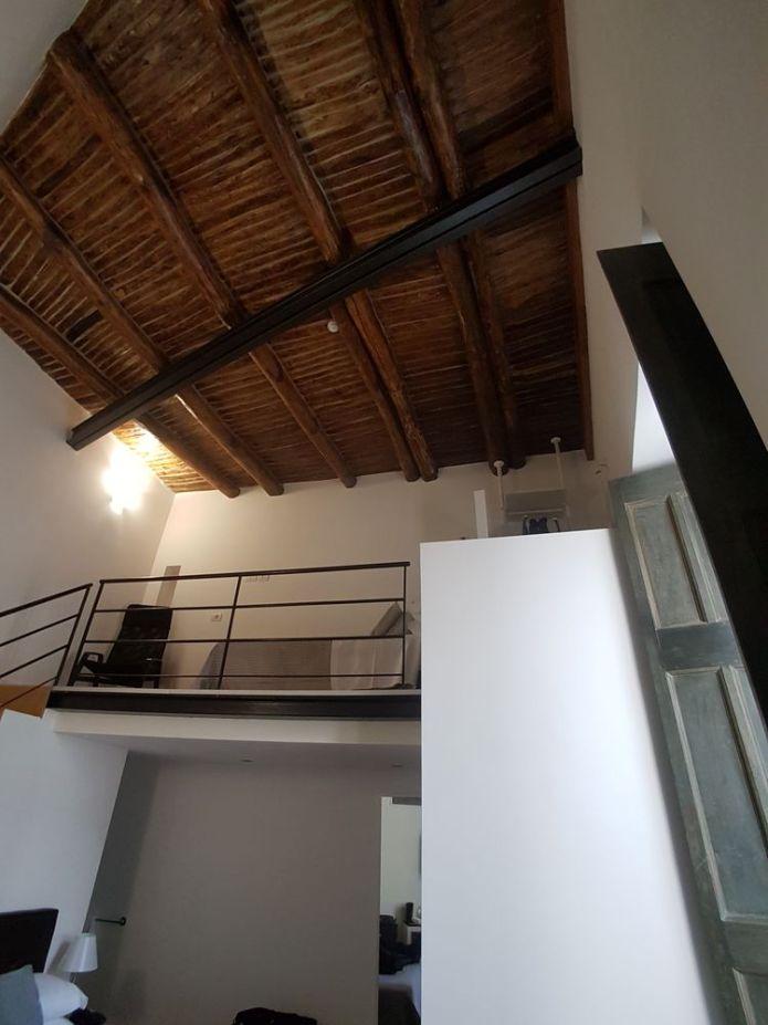plafond en bois hôtel Santa Chiara, Naples