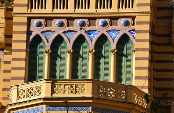 balcon ancien Gran Hotel Eden Naples