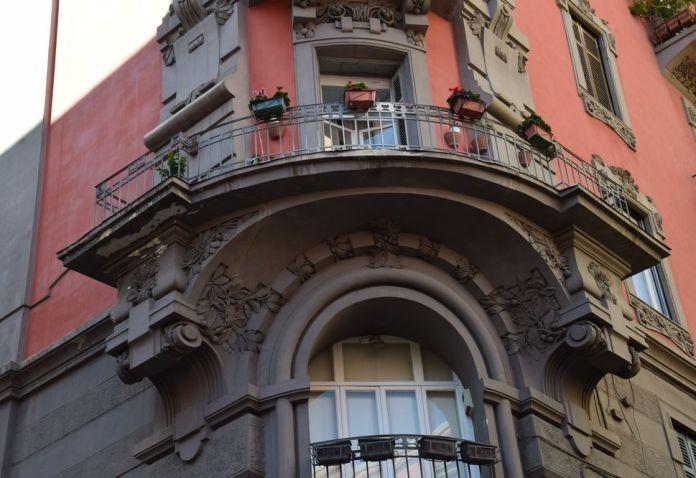 détail décor Palazzo Acquaviva Coppola Naples