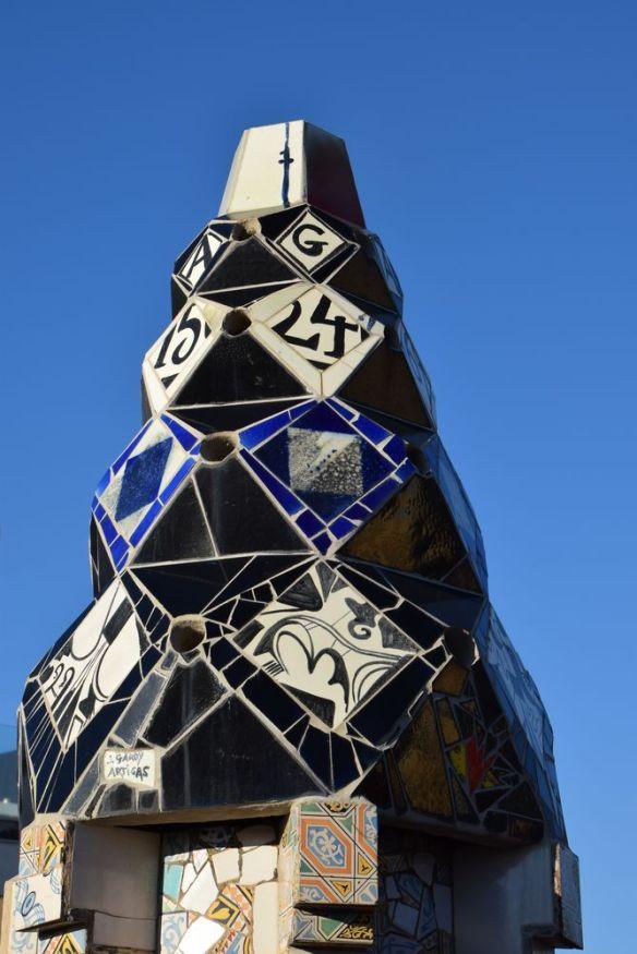 cheminée palais guëll Gaudi Barcelone Barcelona