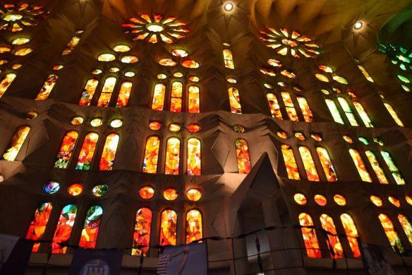 vitraux sagrada Familia Gaudi Barcelone Barcelona