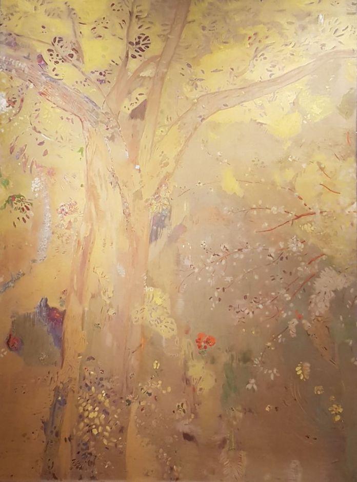 Arbre Odilon Redon panneau du décor salle à manger de Domecy-sur-le-Vault