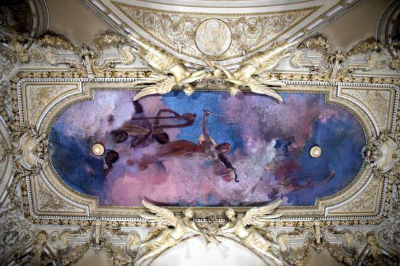 plafond musée cantacuzino bucarest