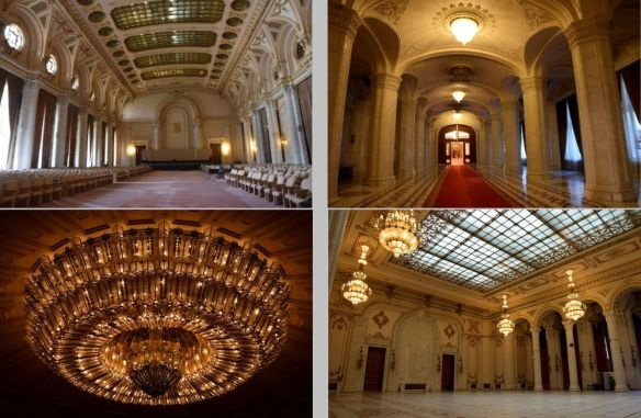 vues intérieur parlement bucarest