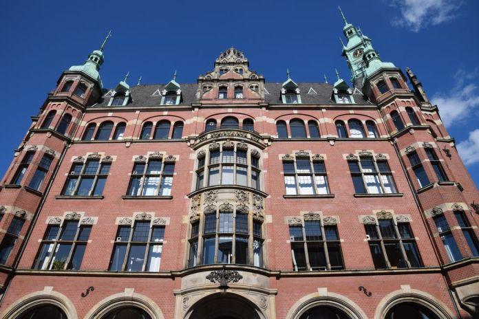 bâtiment raffiné Speicherstadt Hambourg