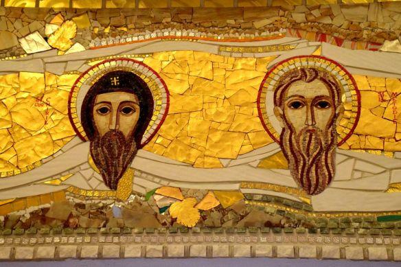 détail mosaïques cluj-napoca église de la transfiguration