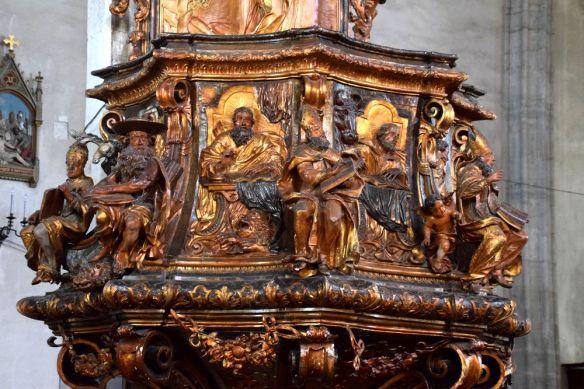 détail chaire église saint-michel