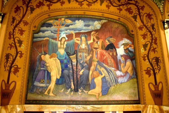 panneau du palais de la culture targu mures
