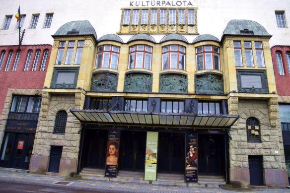 façade principale palais de la culture Targu Mures