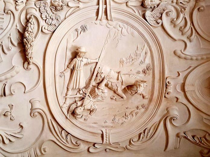plafond en stuc abbaye du parc Leuven