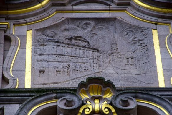 cartouche incendie bibliothèque Leuven Louvain