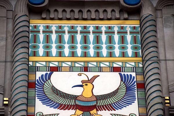 rapace représentant la déesse vautour Nekhbet