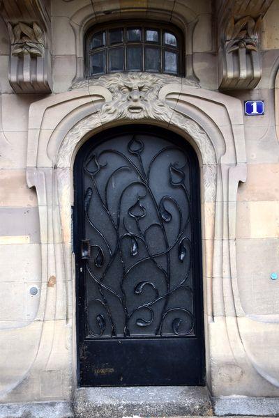porte art nouveau strasbourg rue sellenick