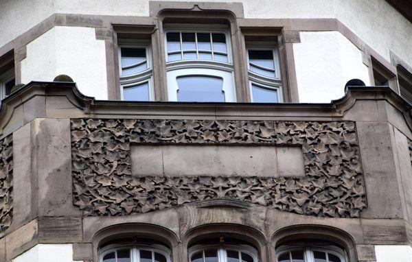 panneau de lierre art nouveau palais des fêtes strasbourg