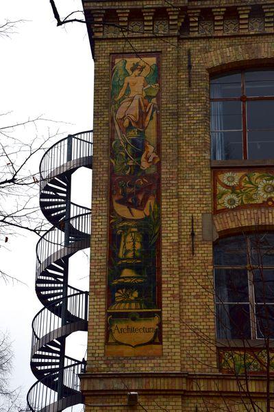allégorie de l'architecture, école des arts décoratifs de strasbourg